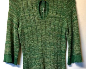 Vintage Green Crochet Jumper