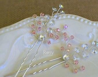 Hair Pin, Swarovski Crystal Pin, Silver Hair Pins, Wedding Pins, Bridal Hair Pins, Wedding Hair Accessory, Bridal Hair Accessories, Hair Pin