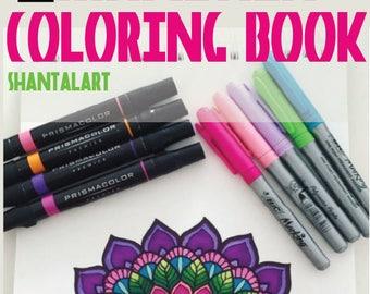 Mandala Coloring Book N.1 Regular Mandalas | Shantal Art | shantalart