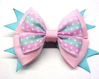 light pink bow Big pink hair bow Hair bow for girl Little girls hair bow Pastel pink hair bow 5 inch hair bow pink boutique hair bows