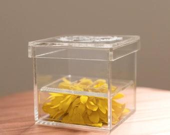 Customized Clear Acrylic Ring Box