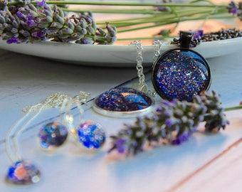 Handmade Jewellery Range - Statement Jewellery - Sparkly Jewellery - Purple Jewellery Range