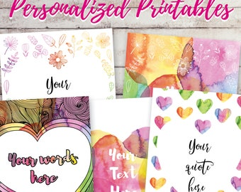 Custom Quote Text Your Words Here Valentines Day Coworker Best Friend Mom Sister Mentor Gift Wall Art Watercolor Print To Buy Floral Hearts