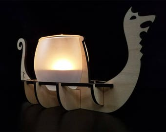 Viking Longship Votive Holder