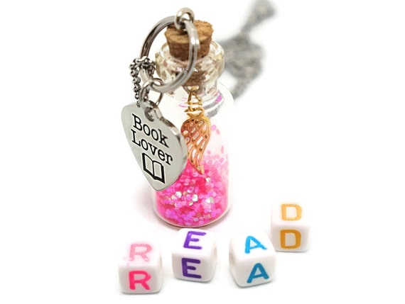 Jewelry for book lover - Book necklace gift - Jewelry for bookworm - Jewelry for reader - Necklace for reader - Necklace bookworm - Bookish