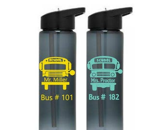 Bus Driver Water Bottle, School Bus Tumbler, Bus Driver Gift