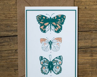 SALE Butterflies Natural History Greetings Card
