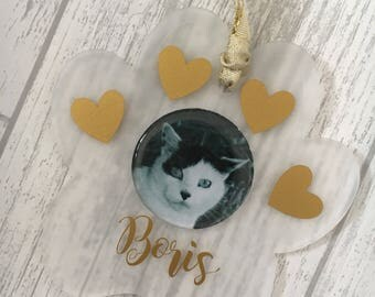 Personalised Pet Gift, Pet Decoration, Dog Gift, Cat Gift, Pet Memorial, Dog Christmas, Cat Christmas, Dog Lover, Cat Lover