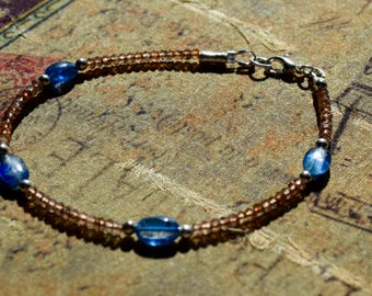 AAA Kyanite and Andalusite Bracelet~ Healing Energy Bracelet~ Stacking Bracelets~