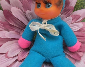 Vintage 1970s/80s Larger Size Beanie Matchbox Doll