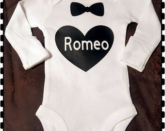 Romeo, Bow Tie, Super Cute Onesie,  Great Baby Shower Gift!