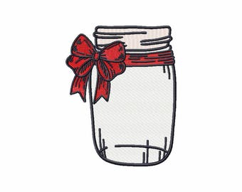 Machine Embroidery Design  - Canning Jars Design #01