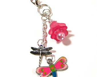 Dragonfly Planner Charm - Erin Condren Planner Charm - Purse Charm - Zipper Pull - TN Charm - Travelers Notebook Charm