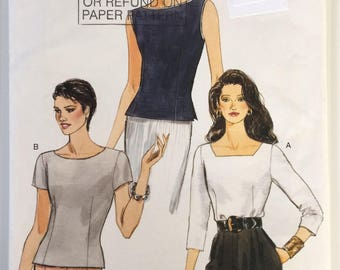 Very Easy Very Vogue sewing pattern 9456 - Misses' top - size 8-10-12
