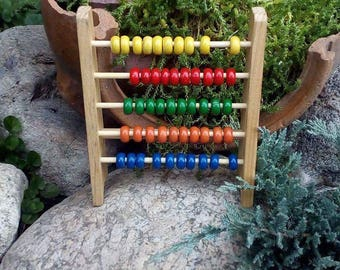 Wooden Abacus, Abacus, Russian Abacus, Retro Abacus, Colourful Abacus, Made in USSR Abacus