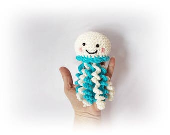 Crochet Octopus Champagne blue Toy Stuffed octopus knitted amigurumi wedding decoration Party decoration home decor Octopus jellyfish plushy