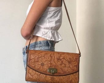 Southwest tooled leather purse
