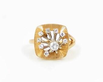 14K Gold & Diamond Retro Ring - X4200