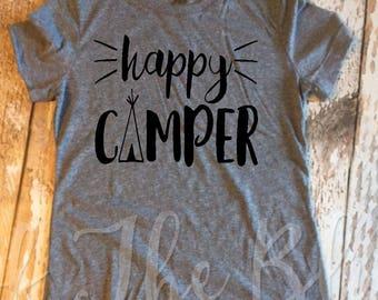 Happy Camper Gray Tee