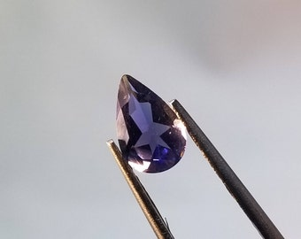5mm x 8mm Faceted Iolite Pear, Faceted Iolite Teardrop, Faceted Gemstone, Faceted Iolite, Iolite