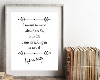Virginia Woolf Print, Inspirational Quote, Instant Download, Literary Poster, Bookworm Art Print, Bookish Gift, Bibliophile, Librarian Gift