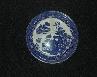 August Hashagen New York Blue Willow Grill Plate