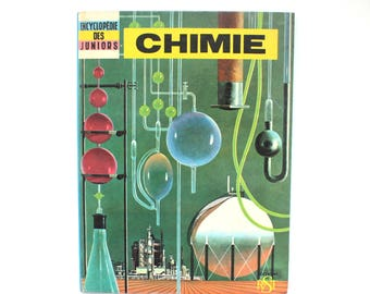 1963 French Chemistry Book for Juniors Hardcover