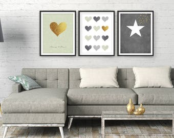 Living Room Wall Art Home Decor Sale Giclee Set Modern