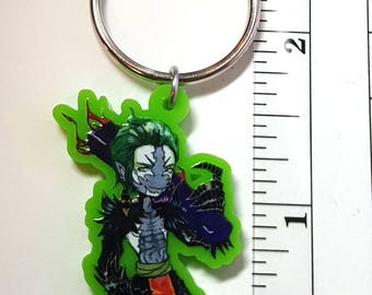 Witch Doctor Nori Green Acrylic Charm