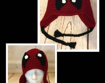 Crochet Deadpool Hat