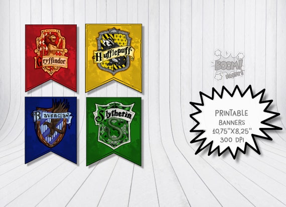 photo relating to Hogwarts Banner Printable identify Printable Hogwarts Banners Halloween Gryffindor Ravenclaw