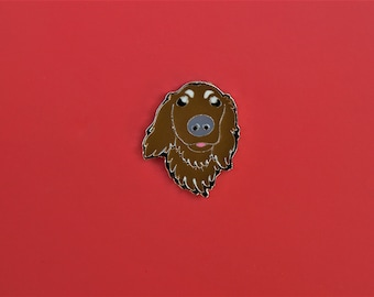 Enamel Pin Golden Dog