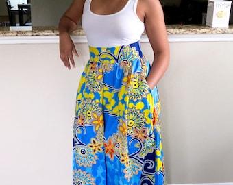 Long Ankara Skirt