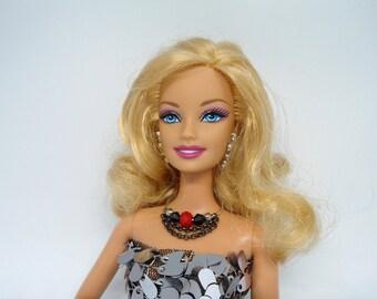 Barbie Necklace, Short Barbie Necklace, Fashion Jewelry, Doll Necklace, Doll Necklace, Fashion Fashion Doll.