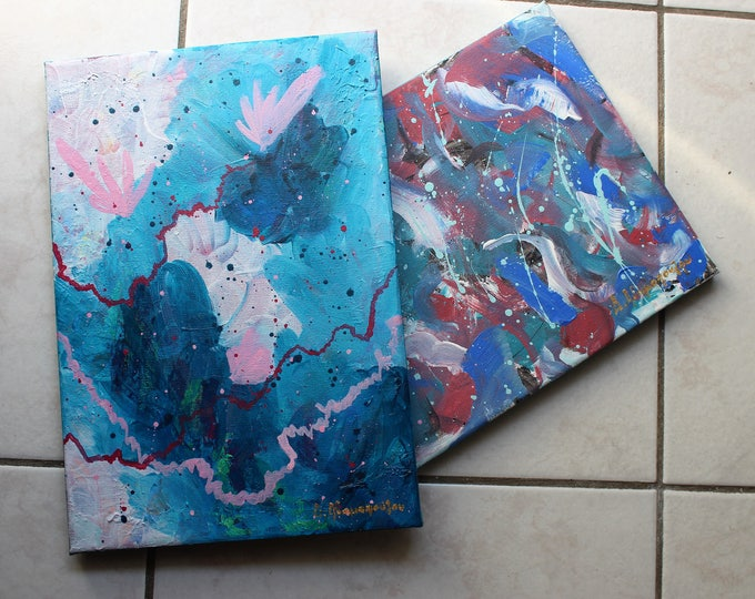 Fruit of love 22.5x32.5cm Original Abstract Painting