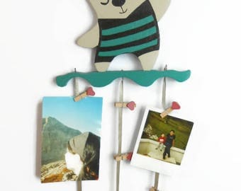 Decoration Bear photo or messages to hang-wooden furniture