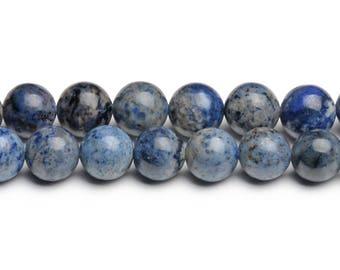 8mm dumortierite 8mm light blue dumortierite beads smooth dumortierite gems loose dumortierite stones rare beads light blue beads for malas