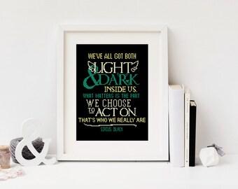 Harry Potter Cross stitch pattern Instant download PDF Quote Sirius Black Light Gryffindor Modern Easy Beginner Hogwarts Friends #082