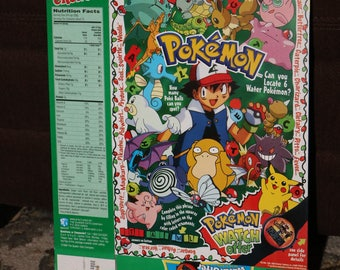 POKEMON Cereal 1990s Cap'n Crunch's Pikachu Vintage 90s Card Christmas Food Box Single Game