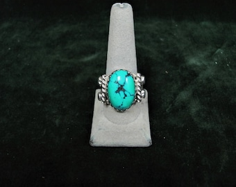 Twisted Turquoise Sterling Ring