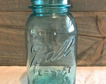 Vintage Blue Ball Jar