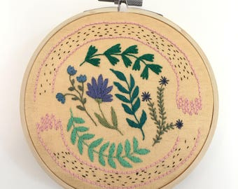 Hand-embroidered wall art