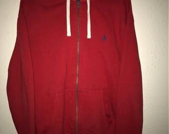 Vintage Red Polo Hoodie