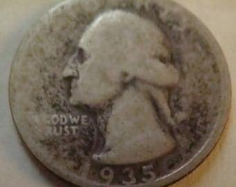 1935 Silver Wahington Quarter