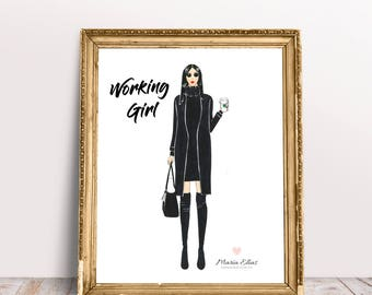 Working Girl illustration