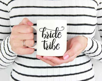 Bride Tribe Mug, Gifts for Bridesmaid from Bride, Floral Bridesmaid Gift, Bridesmaid Mug, Bridesmaid Present, Bridal Party Gifts Coffee Cups