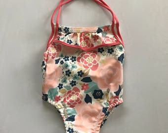 Baby Girl Floral One Piece Swimsuit