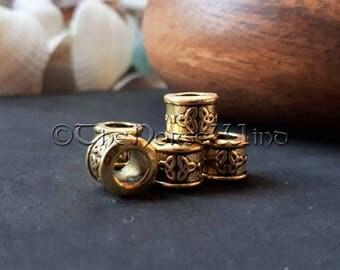 Perles cheveux noeud celtique, Viking barbe perles cheveux anneaux,  Dreadlocks Or Antique, bijoux