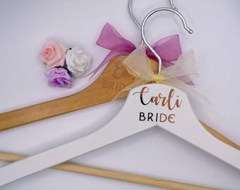 Rose Gold Bridal Hangers, Bridesmaid Hanger, Bride hanger, bridesmaid gift, bride gift, wedding party hangers