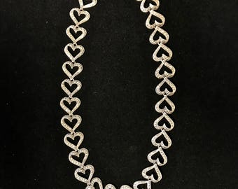 Sterling & Marcasite Heart Necklace